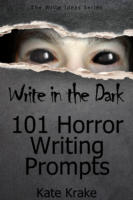 Writing in the dark horror prompts cover full